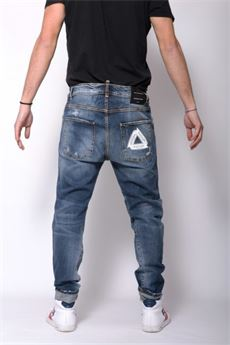 Jeans uomo in denim destroyed Patriot PATRIOT | Jeans | PKAY938DENIM