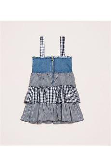 Abito in jeans con balze Vichy Twin Set TWIN SET | Abito | GB20124923