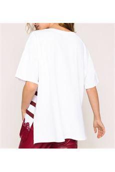 T-shirt over  righe con logo e pizzo Twin Set TWIN SET   T-shirt   ST21654791
