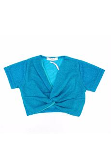 Maglia turchese Vicolo tessuto lurex VICOLO | Camicia | C0004VU