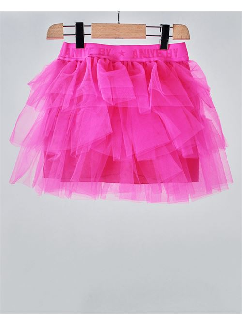Gonna in tulle con elastico logato Aniye By Girl ANIYE BY GIRL | Gonna | 115014675