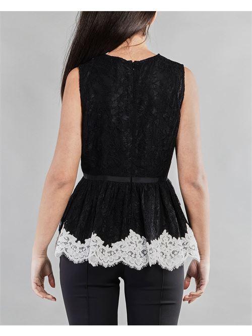 Camicia in pizzo con inserti a contrasto Anna Molinari ANNA MOLINARI | Camicia | 24176239