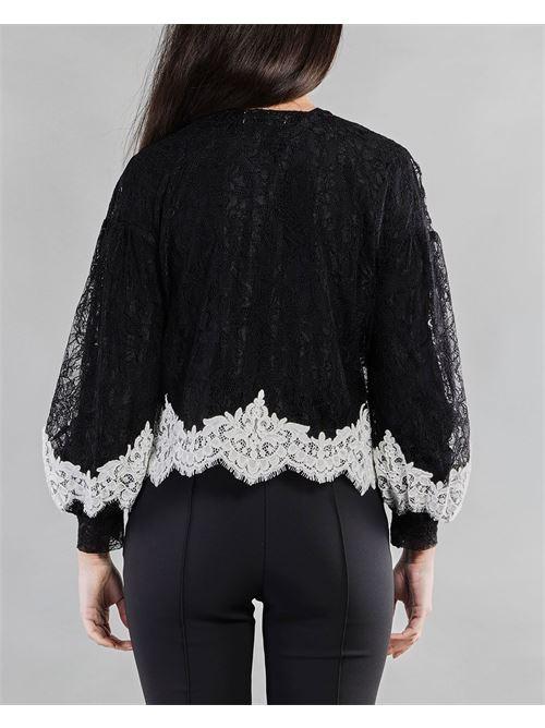 Camicia in pizzo con inserti a contrasto Anna Molinari ANNA MOLINARI | Camicia | 24191239