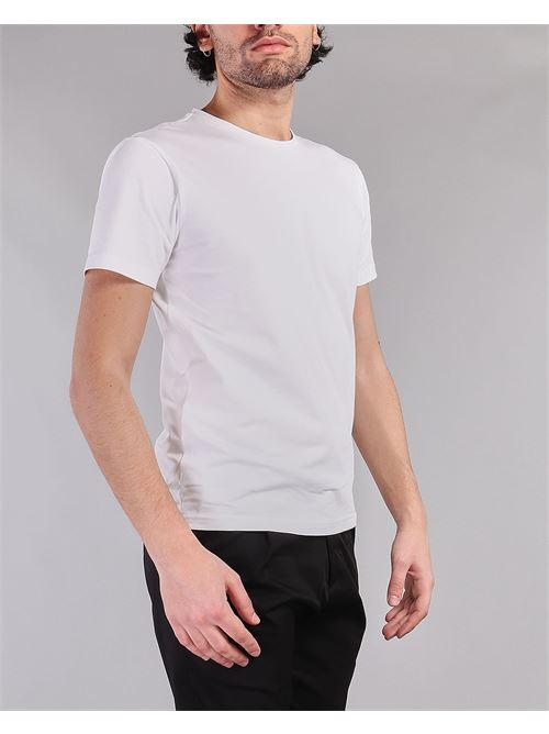 T-shirt basic con logo sulla spalla Daniele Alessandrini DANIELE ALESSANDRINI | T-shirt | M9187A3342