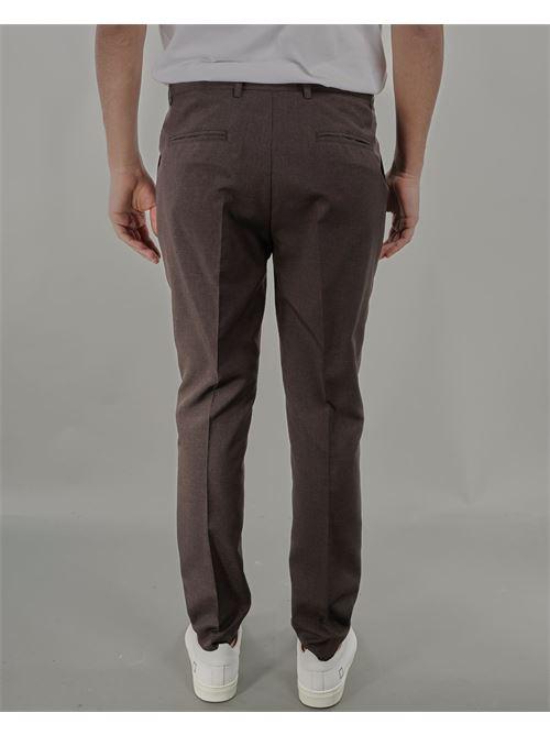 Pantalone con pences in fresco lana Daniele Alessandrini DANIELE ALESSANDRINI | Pantalone | P3866S2202434