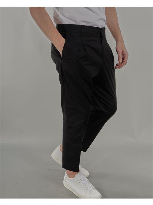 Pantalone capri con doppia pences Daniele Alessandrini DANIELE ALESSANDRINI | Pantalone | P3975N10061