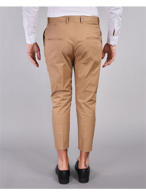 Pantalone capri con doppia pences Daniele Alessandrini DANIELE ALESSANDRINI | Pantalone | P3975N100620