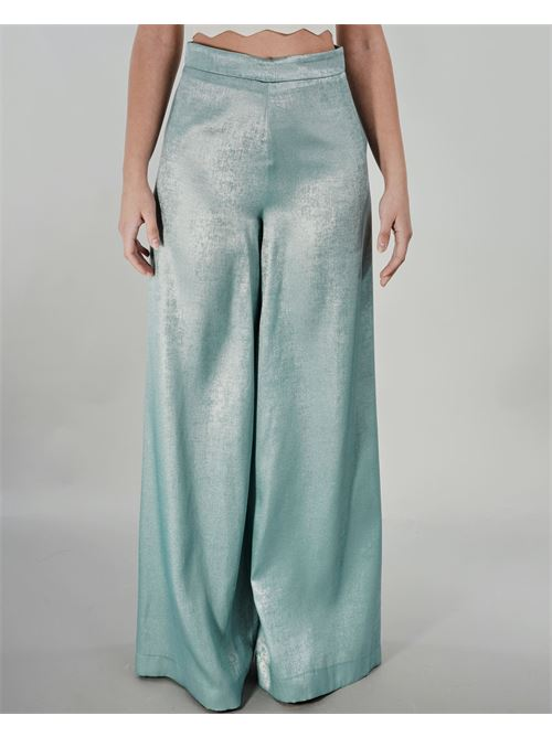 Pantalone palazzo laminato Dramee DRAMEE | Pantalone | 21000VERDE
