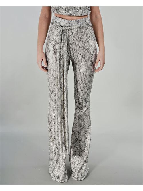 Pantalone a zampa fantasia Dramee DRAMEE | Pantalone | D21017SILVER