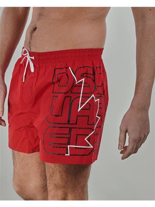 Costume co stampa logo sul lato Dsquared DSQUARED | Costume | D7B8P3590600