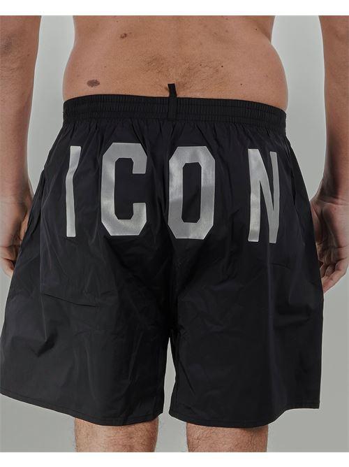 Costume con stampa logo sul davanti e stampa ICON sul retro Dsquared DSQUARED | Costume | D7N5637308
