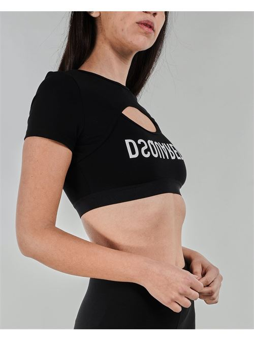 Top cropped con logo Dsquared DSQUARED | Top | D8M31354010