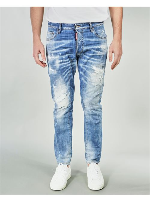 Jeans Ripped White Spots Wash Tidy Biker Dsquared DSQUARED | Jeans | S79LA0022DENIM