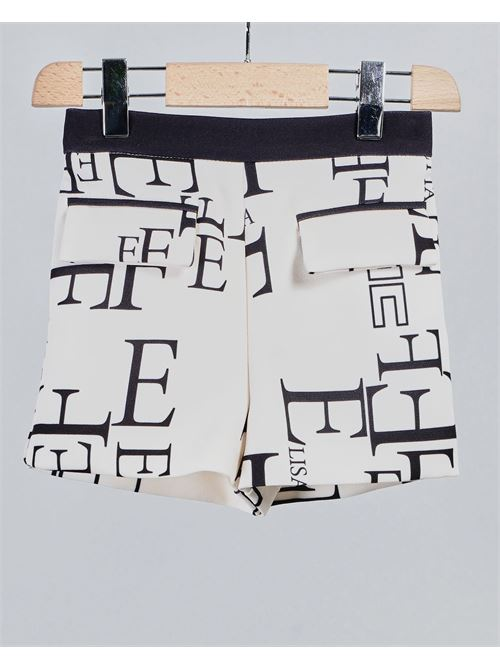 Short con logo all over Elisabetta Franchi La Mia Bambina ELISABETTA FRANCHI LA MIA BAMBINA | Shorts | EFBE29GA89WE0105