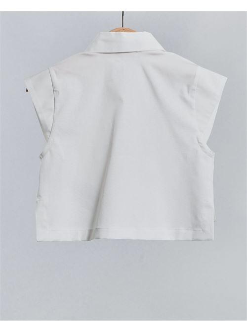 Camicia con logo ricamato Elisabetta Franchi La Mia Bambina ELISABETTA FRANCHI LA MIA BAMBINA | Camicia | EFCA129CE201WE02522