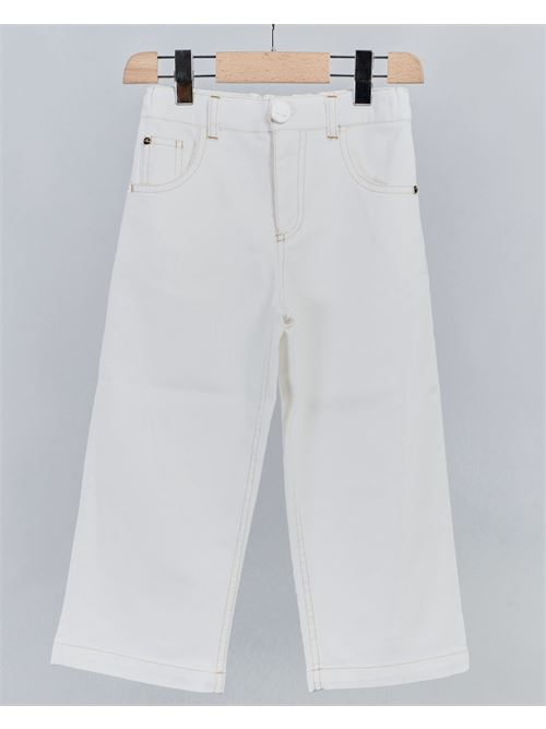 Jeans con logo e frange Elisabetta Franchi La Mia Bambina ELISABETTA FRANCHI LA MIA BAMBINA | Pantalone | EFPA109CE197WE0083
