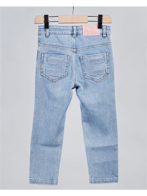 Jeans con logo sul retro Elisabetta Franchi La Mia Bambina ELISABETTA FRANCHI LA MIA BAMBINA | Jeans | EFPA117DE98WEUNI4000