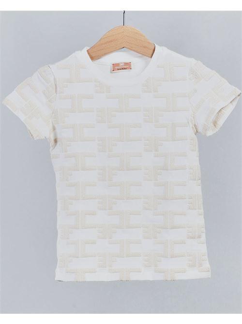 T-shirt con logo all over Elisabetta Franchi La Mia Bambina ELISABETTA FRANCHI LA MIA BAMBINA | T-shirt | EFTS129JE95WE01716