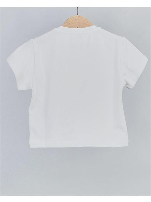 T-shirt con logo e frange Elisabetta Franchi La Mia Bambina ELISABETTA FRANCHI LA MIA BAMBINA | T-shirt | EFTS1300003WEUNID000