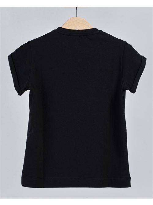 T-shirt con ricamo logo Elisabetta Franchi La Mia Bambina ELISABETTA FRANCHI LA MIA BAMBINA | T-shirt | EFTS1310001WE003N000
