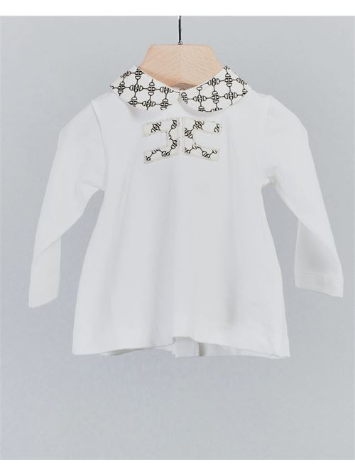 Completo con colletto e logo stampato Elisabetta Franchi la Mia bambina ELISABETTA FRANCHI LA MIA BAMBINA | Completo | ENCD34JE95WE041D029
