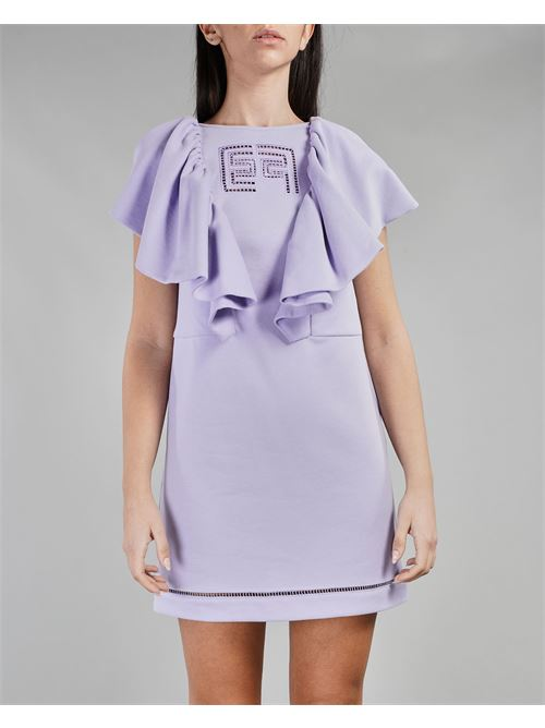 Mini abito in felpa con ricamo Elisabetta Franchi ELISABETTA FRANCHI | Abito | AB01011E2Q38
