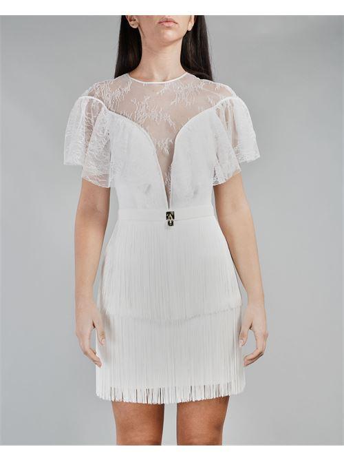 Mini dress trasparente in pizzo Elisabetta Franchi ELISABETTA FRANCHI | Abito | AB03311E2360