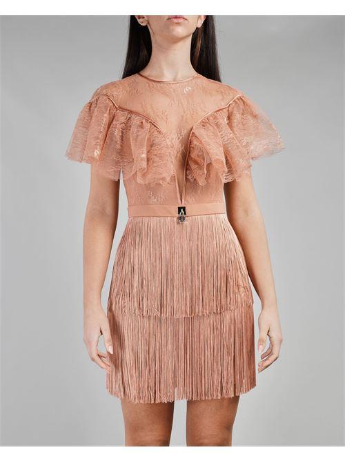 Mini dress trasparente in pizzo Elisabetta Franchi ELISABETTA FRANCHI | Abito | AB03311E2W71