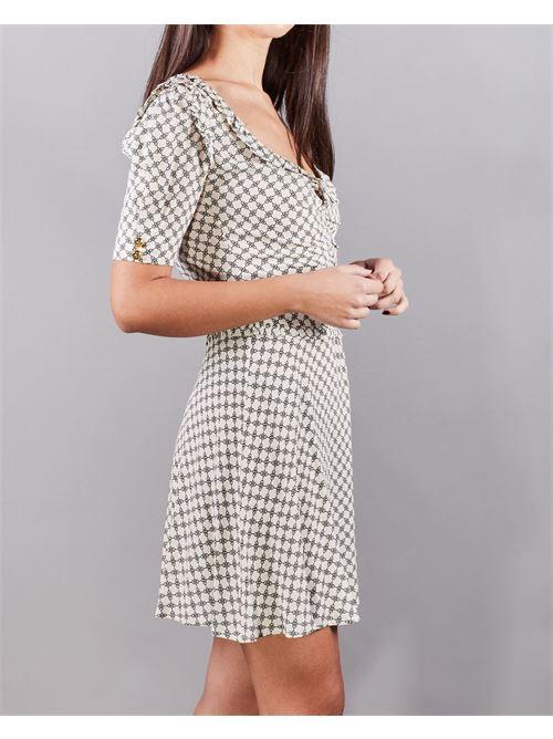 Mini abito in georgette stampa morsetto piccolo Elisabetta Franchi ELISABETTA FRANCHI | Abito | AB09311E2E84