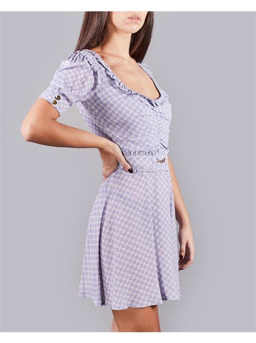 Mini abito in georgette stampa morsetto piccolo Elisabetta Franchi ELISABETTA FRANCHI | Abito | AB09311E2Q45