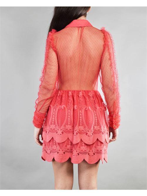 Mini dress in pizzo ricamato Elisabetta Franchi ELISABETTA FRANCHI | Abito | AB10111E2620