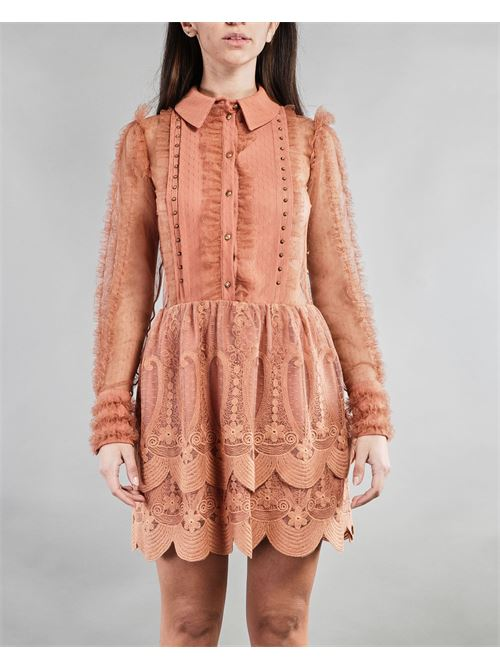 Mini dress in pizzo ricamato Elisabetta Franchi ELISABETTA FRANCHI | Abito | AB10111E2W71