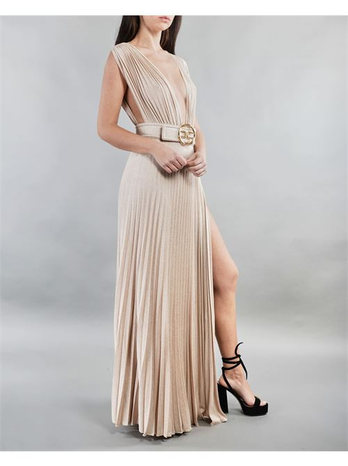 Abito Red Carpet con cintura gold Elisabetta Franchi ELISABETTA FRANCHI | Abito | AB14913E2610