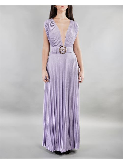 Abito Red carpet con cintura gold Elisabetta Franchi ELISABETTA FRANCHI | Abito | AB14913E2Q38