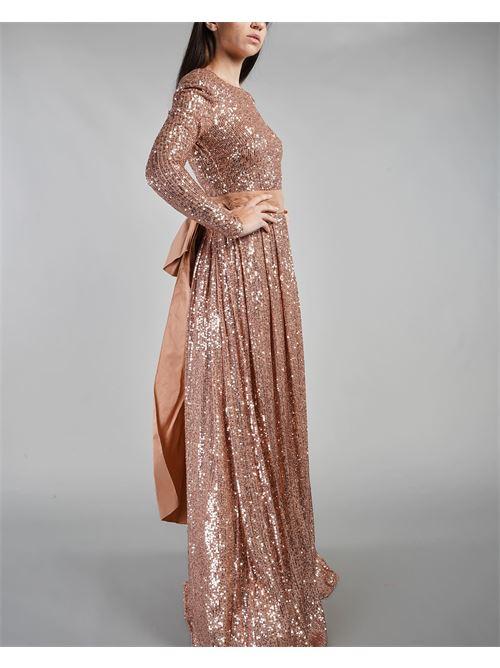 Abito full paillettes Red Carpet con fiocco Elisabetta Franchi ELISABETTA FRANCHI | Abito | AB99911E2614