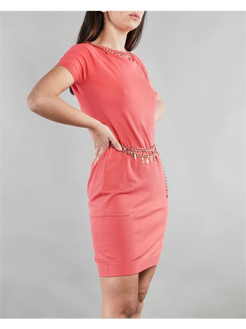 Mini dress con cintura e charms Elisabetta Franchi ELISABETTA FRANCHI | Abito | AM03S11E2620