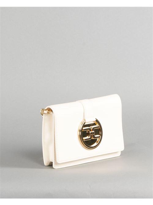 Tracollina con logo light gold Elisabetta Franchi ELISABETTA FRANCHI | Borsa | BS25A11E2193
