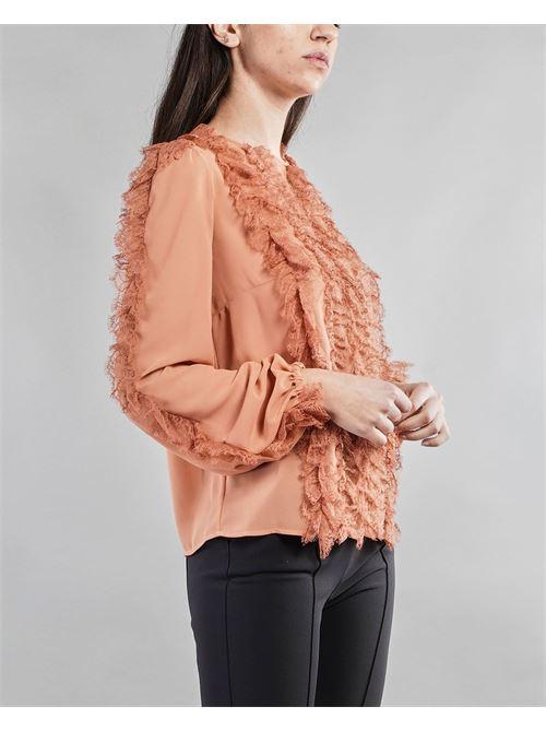Camicia in georgette e pizzo Elisabetta Franchi ELISABETTA FRANCHI | Camicia | CA28611E2W71