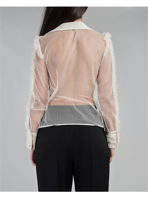 Camicia in pizzo plumetis Elisabetta Franchi ELISABETTA FRANCHI | Camicia | CA30811E2193