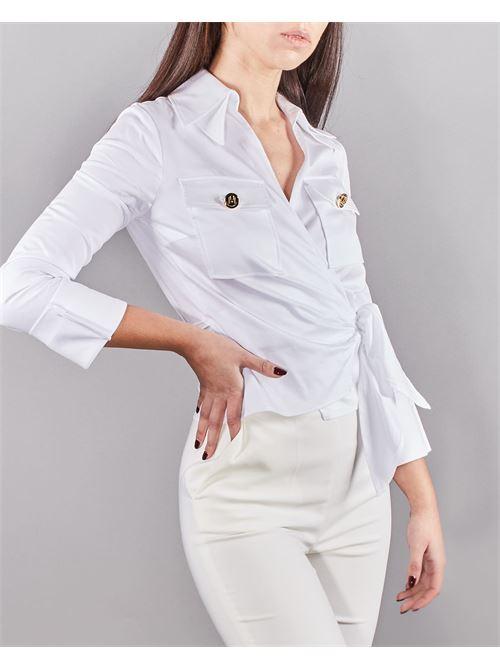 Camicia crop in cotone Elisabetta Franchi ELISABETTA FRANCHI | Camicia | CA31511E2100