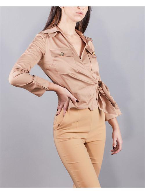 Camicia crop in cotone Elisabetta Franchi ELISABETTA FRANCHI | Camicia | CA31511E2390
