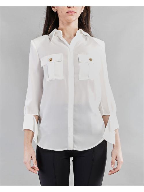 Camicia con maniche a foulard Elisabetta Franchi ELISABETTA FRANCHI | Camicia | CA32311E2360