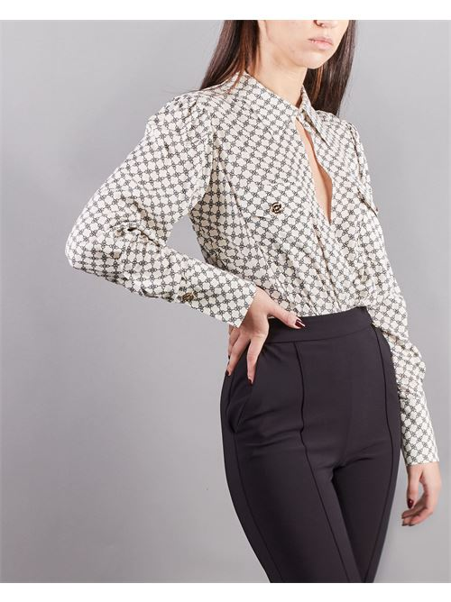 Camicia a body stampa morsetto con tasche Elisabetta Franchi ELISABETTA FRANCHI | Camicia | CB01411E2E84
