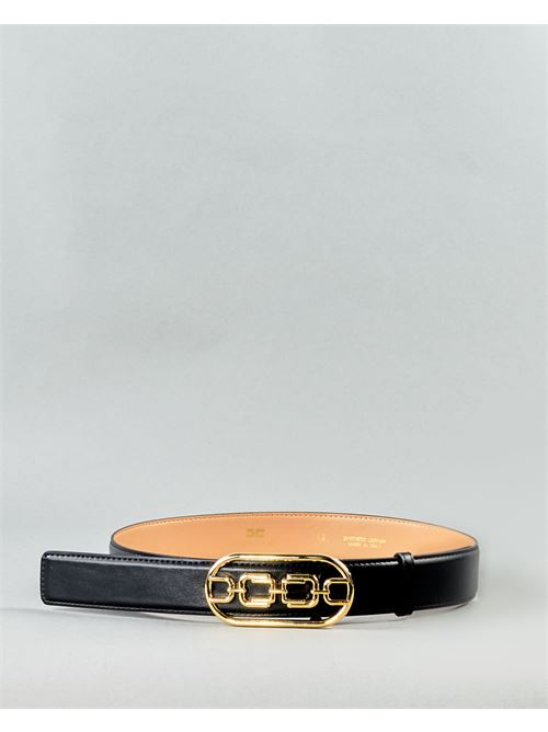 Cintura con logo light gold Elisabetta Franchi ELISABETTA FRANCHI | Cintura | CT03S11E2110