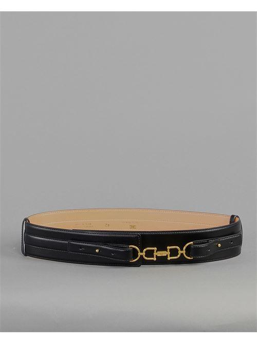 Cintura a vita alta con morsetto light gold Elisabetta Franchi ELISABETTA FRANCHI | Cintura | CT04S11E2110