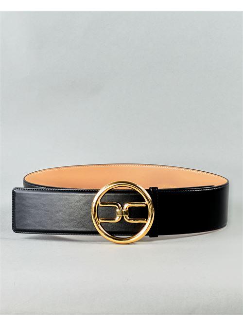 Cintura a vita alta con logo gold Elisabetta Franchi ELISABETTA FRANCHI | Cintura | CT11S11E2110