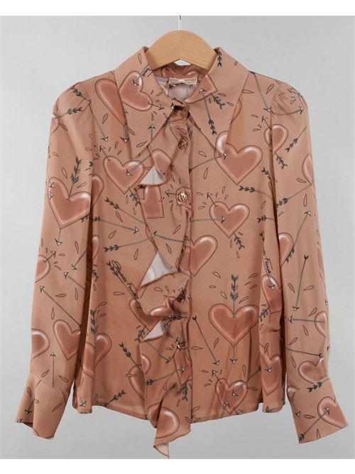 Camicia fantasia con volant Elisabetta Franchi La Mia Bambina ELISABETTA FRANCHI LA MIA BAMBINA | Camicia | EFCA104GAE08151