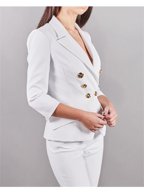 Giacca corta con bottoni oro light Elisabetta Franchi ELISABETTA FRANCHI | Giacca | GI97011E2360
