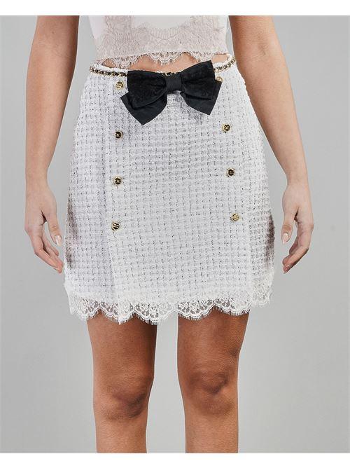Mini gonna con cintura e fiocco Elisabetta Franchi ELISABETTA FRANCHI | Gonna | GO48013E2309