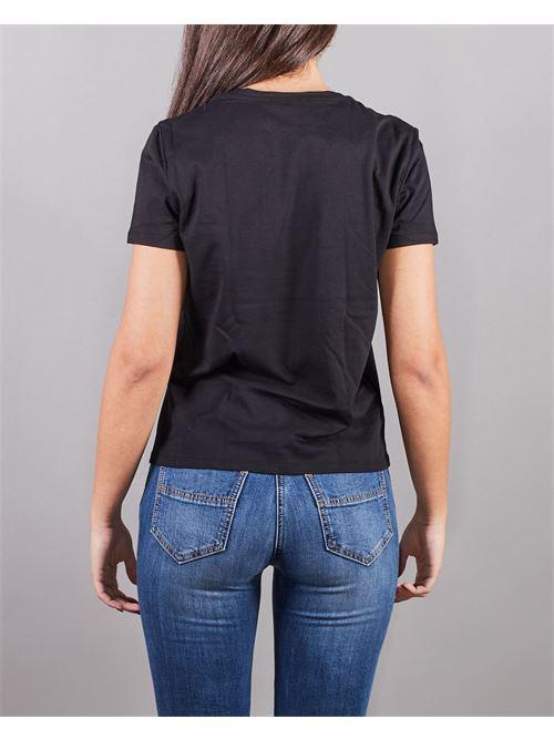 T-shirt con logo ricamato Elisabetta Franchi ELISABETTA FRANCHI | Maglia | MA18411E2110